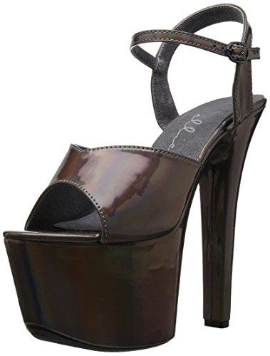 mit Shoes 711 Pewter Damen Ellie Lola Absatz Sandaletten und d6qd14xXw