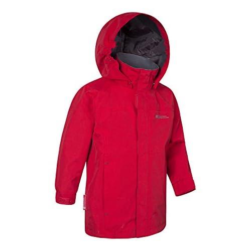 Mountain Warehouse Orbit Veste d'enfants - manteau imperméable à l'eau de pluie, sécurité empoche le manteau de pluie d'été, biens, donnent l'assaut à la veste Rouge 9-10 ANS