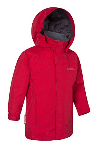 Jacket Summer Waterproof Childrens Pockets Girls for Mountain Orbit Red Casual Coat Suitable Security Rain Storm amp; Jacket Durable Warehouse Boys Coat Flap Rain Kids qZqzBctyI