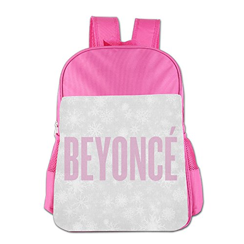 Boys Girls Pop Songwriter Actress Beyonce Backpack School Bag (2 Color:Pink Blue) Pink