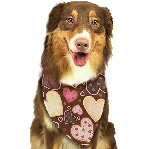 (FRTSFLEE Dog Bandana Chocolate Truffle Candy Sweet Heart Love Scarves Accessories Decoration for Pet Cats and Puppies)