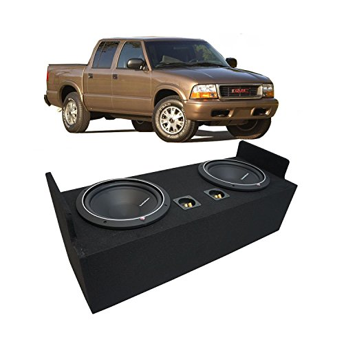 "Fits 1982-2004 GMC Sonoma Extended Cab Truck Rockford Punch P1S412 Dual 12"" Sub Box Enclosure - Final 2 Ohm"