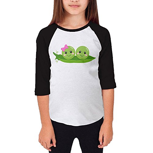 Paplo Youth Peds In A Pod 3/4 Sleeve Baseball Raglan 100% Cotton T Shirt Size M