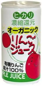 ヒカリ オーガニックりんごジュース(190g)