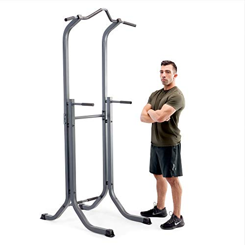 Marcy Power Tower Multi-Functional Home Gym Pull Up Chin Up Push up Dip Station for Strength Training TC-5580 (Body Power Deluxe Multifunctional Power Tower Exercises)