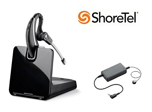 ShoreTel Compatible Plantronics CS530 VoIP Wireless Headset Bundle with Electronic Remote Answer|End and Ring Alert (EHS) for ShoreTel IP Phones: 100 212 230 230G 265 420 530 560 560G ()
