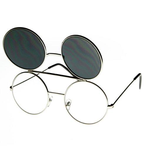 b77429333 zeroUV - Limited Edition Color Flip-Up Lens Round Circle Django Sunglasses  70%OFF
