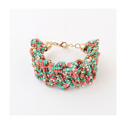 Winter's Secret Bohemia Female Sweet Rice Bead Hand Weaving Bracelets (Odyssey Contemporary Wall)