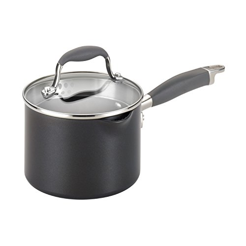 Anolon® 2-qt. Grey Covered Straining Saucepan