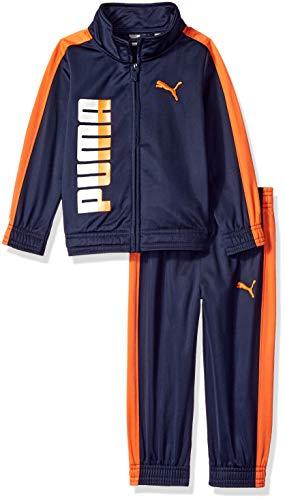 PUMA Toddler Boys' Tricot Pant Set, Peacoat 2T ()