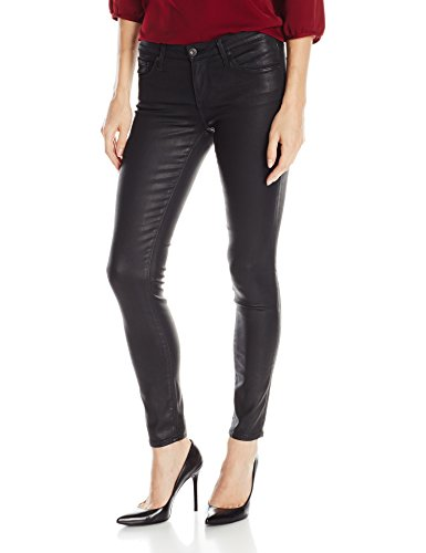 AG Adriano Goldschmied Women's Legging Ankle Coated, Super Black Leatherette, 25 ()
