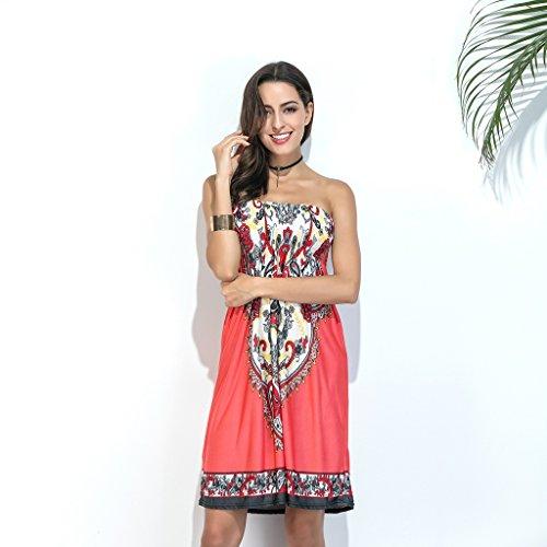Bohemian Abito WANG G dimensioni Colore floreale stampa con spalle maniche L Vestiti scoperte con senza 55wRq01