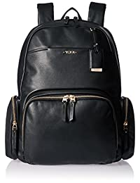 Tumi Women's Voyageur Leather Calais Backpack, Black, One Size