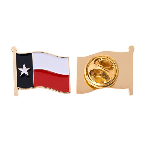 (Texas TX State Flag Lapel Pin Enamel Made of Metal Souvenir Hat Men Women Patriotic Texan (Waving Flag Lapel Pin))