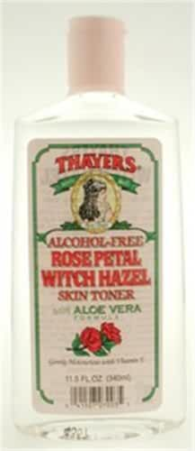 Rose Petal Witch Hazel Toner with Aloe Vera 12 Ounces