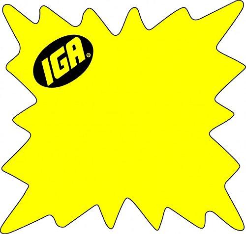Price Cards IGA Die Cut Fluorescent Starbursts, 5