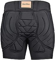 BenKen 3D EVA Padded Short Pants Ski Hip Butt Protective Gear Butt Guard Pants