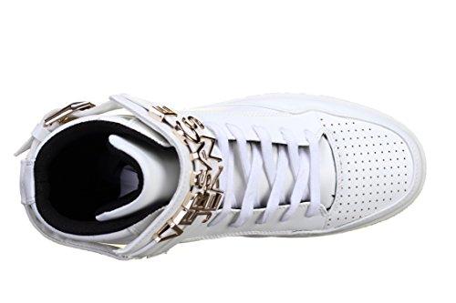 Versace Jeans Linea Sneaker Lettering Rivestimento Bianco E0yobse3003, Si Accende