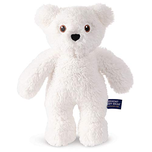 Vermont Teddy Bear Teddy Bear for Kids Collection (White Bear) Teddy Bear for Kids, Plush Animal, 14 inches, White (14 In Plush)