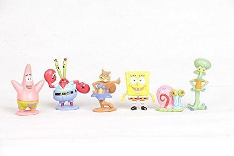 SpongeBob - Bob Esponja y sus amigos - set 6 figuras-con ...