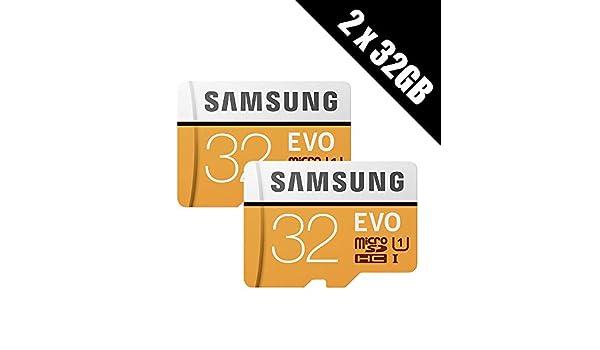 2 x Samsung Memory EVO Plus 32 GB Micro SDHC Tarjeta 95 MB/s UHS-I ...