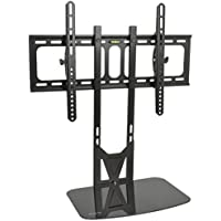 VIVO Black TV Fixed Tilt Wall Mount & Entertainment Shelf Floating AV, DVD Shelving for Screens up to 55 (MOUNT-VW11)