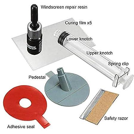 KANGIRU Parabrezza Crack Repair Kit Fai da Te Auto Glass Chips Crepe Parabrezza Premium Kit di Riparazione