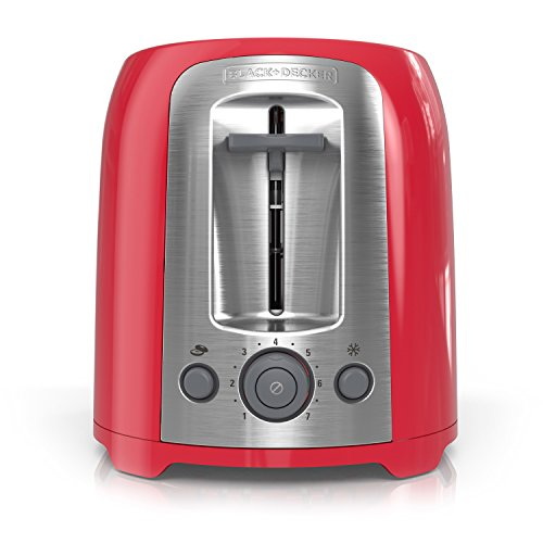 BLACK+DECKER 2-Slice Toaster, Red, TR1278RM by BLACK+DECKER (Image #7)