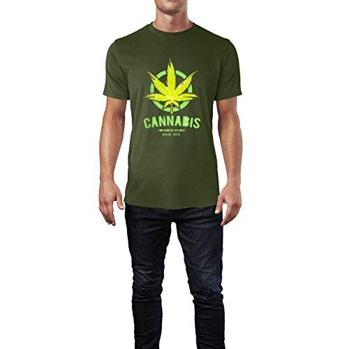 SINUS ART® Nur für den medizinischen Gebrauch Herren T-Shirts in Armee Grün Fun Shirt mit tollen Aufdruck