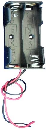 Ajax Scientific Battery Holder with Lead Wire, 2x AA Cell (Pack of 10) - EL022-0002
