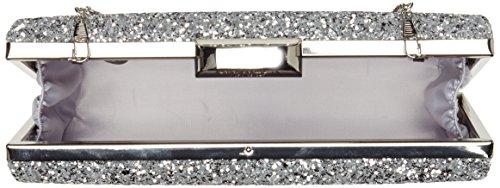 Carvela Damen Gigi Clutch, Silber (Silber (Silver)), 4.3 x 11.5 x 22 cm