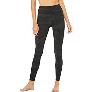 ALO High-Waist Vapor Leggings Black Camo SM 32