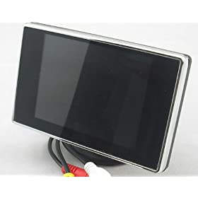 2系統の映像入力 12V車用 電源直結 ミニオンダッシュ液晶モニター【3.5インチ】