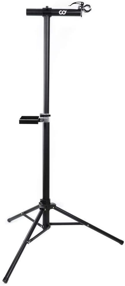 CyclingDeal Full Aluminum Bike Repair Stand - Home Portable Mechanics Workstand - Great for Mountain Road Bikes Maintenance Weight Limit 22kg (48 lbs)