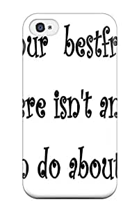 First-class Case Cover For Iphone 4/4s Dual Protection Cover Funny Friendship Quotes