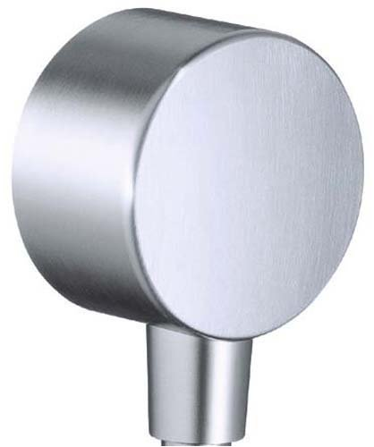 Hansgrohe Axor Steel Wall Outlet with Vacuum Breaker, Stainless Steel Optic #35888801