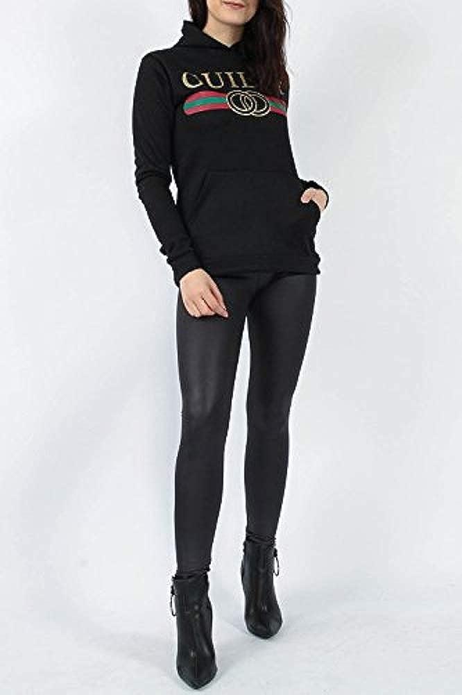 Momo/&Ayat Fashions Ladies Fashion Guilty Slogan Sweat /à Capuche EUR Taille 36-50