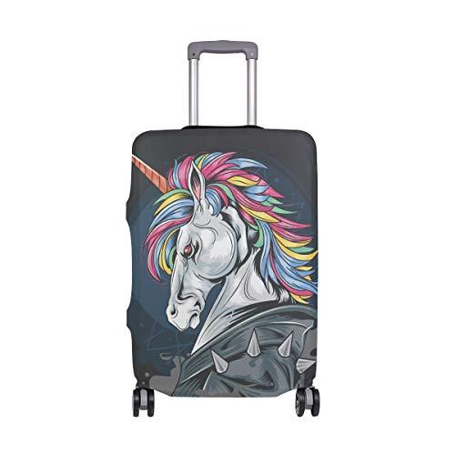 Mr.XZY Unicorn Warrior Close Up Plane Luggage Travel Suitcase Alternative Cartoon Anime Q Version Pattern Protective Case Flexible cloth 2010150