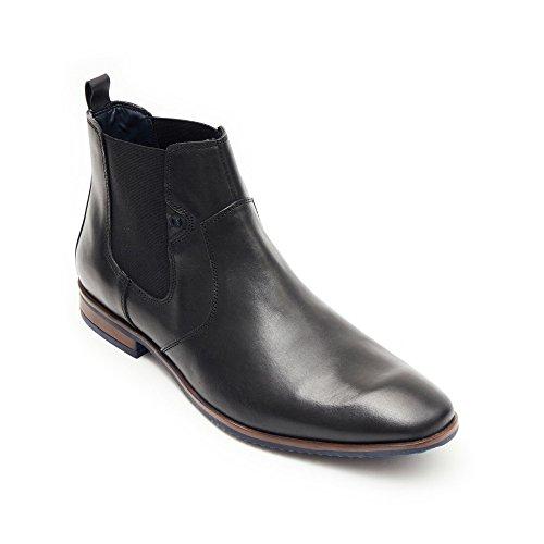 Noche Negro Inteligente Oficina Aarz Tamaño Trabajo Fiesta Elástico Formal Botas Hombres Zapatos Gents Vestir Ponerse London De Los xR8wTzYS8q