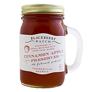 BlackBerry Patch Handled Mug Cinnamon Apple Fruit Preserves All Natural Hand Made in Small Batches | Great on your morning toast ( Cinnamon Apple , 19 Fl oz )