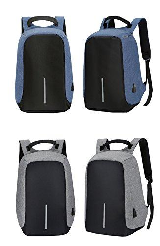 Hombres Impermeables Bolsa de Ordenador Color Sólido Bolso del Senderismo Portátil Mochilas Estudiantes Deporte Mochila de Escolar Backpack/Daypacks (Negro) Negro