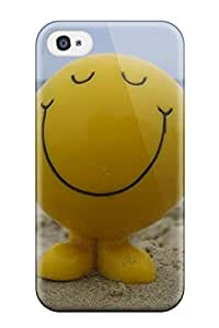 Premium Happy Buddy Back Cover Snap On Case For Iphone 4/4s by lolosakes