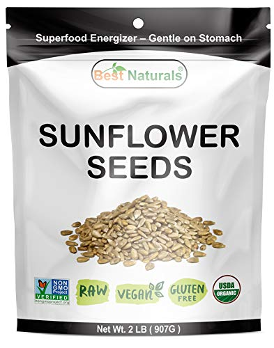 Best Naturals Certified Organic Hulled Sunflower Seeds 2 Pound - Raw - Vegan - Gluten Free - Non-gmo Project Verified (Non Sunflower Gmo Seeds Organic)