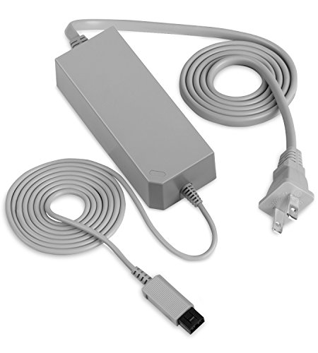 Fosmon Replacement Power Supply Cord AC Adapter for Nintendo Wii - Lifetime Replacement Warranty (Power Supply Wii)