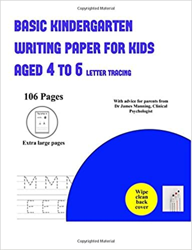 Basic Kindergarten Writing Paper for Kids Aged 4 to 6 (letter