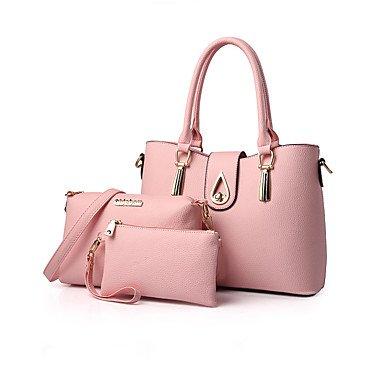 La mujer PU Bolsa Casual Office & Carrera establece,rubor rosa Blushing Pink