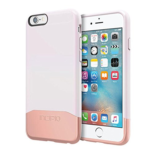 iPhone 6S Case, Incipio EDGE Chrome Case [Hard Shell] Cover fits both Apple iPhone 6, iPhone 6S - Iridescent White/Rose Gold from Incipio