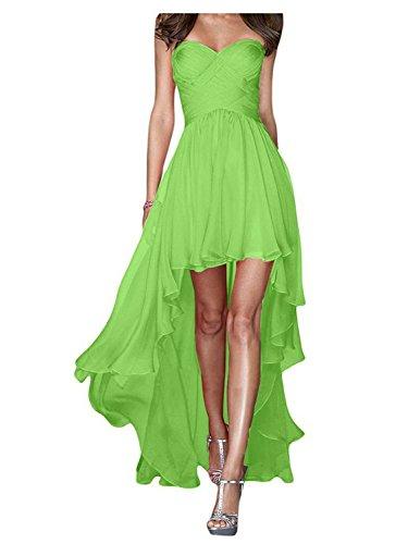 Sin Largo Dama Claro Vestido Gasa Honor Fiesta Mujeres JAEDEN Noche de de Vestido Vestidos Verde de de Tirantes q1xXfww8T5