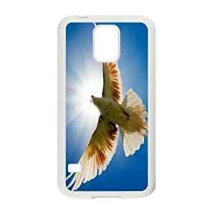 White Dove Customized Cover Case for SamSung Galaxy S5 I9600,custom phone case ygtg583784