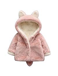Chinatera Baby Kids Girls Outwear Cute Bunny Fleece Winter Hooded Coat